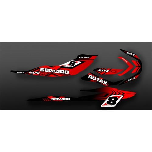 Kit de decoració 100% Personalitzat Vermell per Seadoo RXP-X 260 / 300 -idgrafix