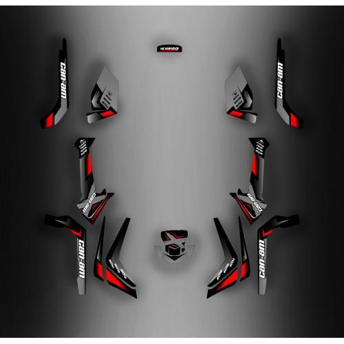 Kit dekor Wasp-Edition Grau - IDgrafix - Can-Am Outlander 500 G2 -idgrafix