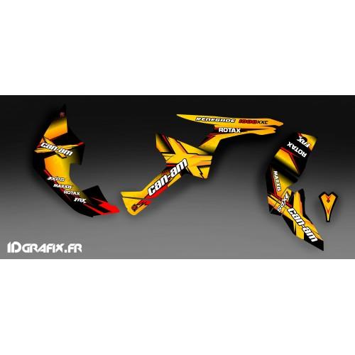 Kit de decoración de X Serie Amarilla Completo IDgrafix - Can Am Renegade -idgrafix