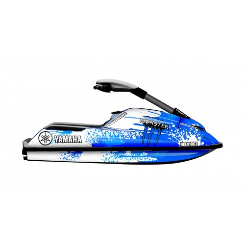 Kit décoration Splash Monster BLUE pour Yamaha Superjet 700-idgrafix