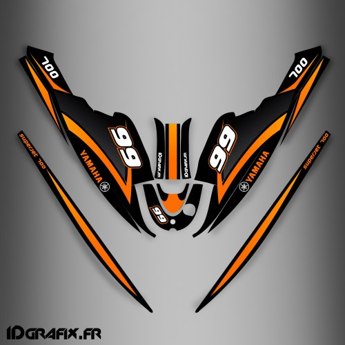 Kit décoration Orange Ltd pour Yamaha Superjet 700-idgrafix