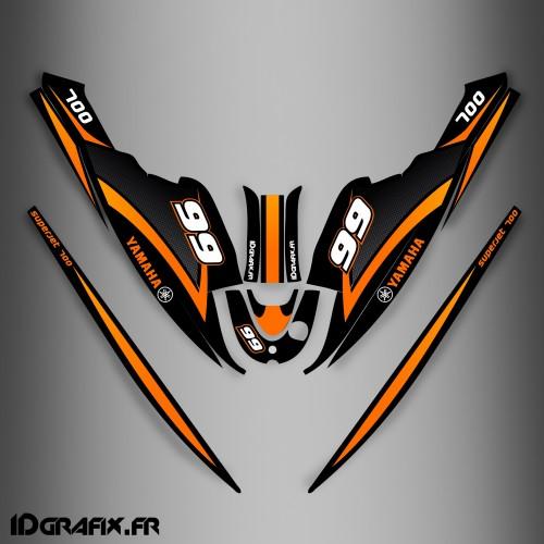 Kit de decoración de Naranja Ltd para Yamaha Superjet 700 -idgrafix