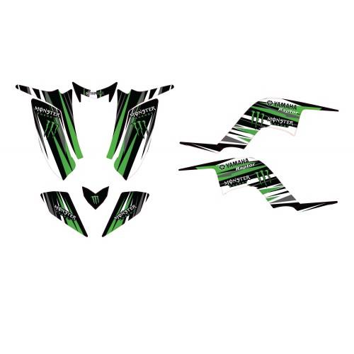 Kit de décoration Monstruo LTD - IDgrafix - Yamaha 50-80-90 Raptor -idgrafix