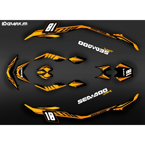 photo du kit décoration - Kit décoration Med Spark Orange pour Seadoo Spark