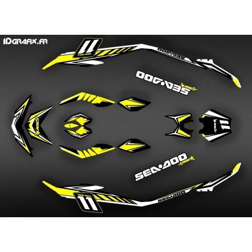 Kit dekor Med Spark Yellow für Seadoo Spark -idgrafix