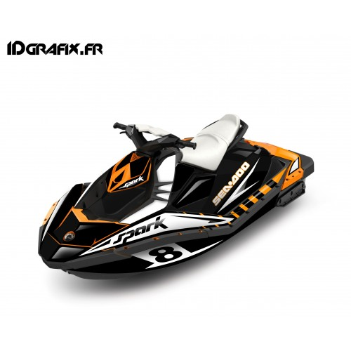 photo du kit décoration - Kit décoration Full Spark Limited Orange pour Seadoo Spark