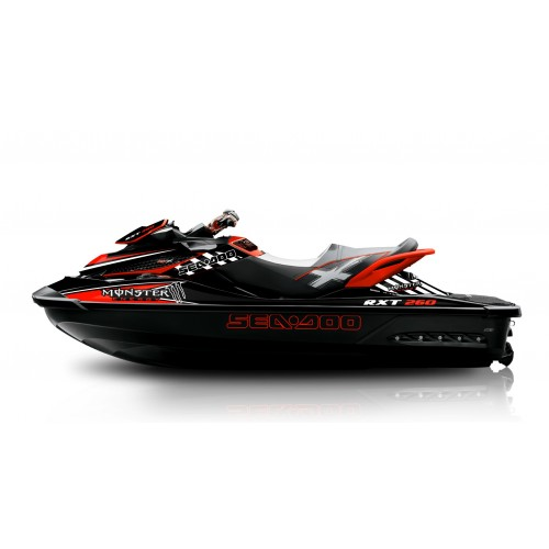 Kit décoration Monster Red for Seadoo RXT 260 / 300 (S3 hull) - IDgrafix