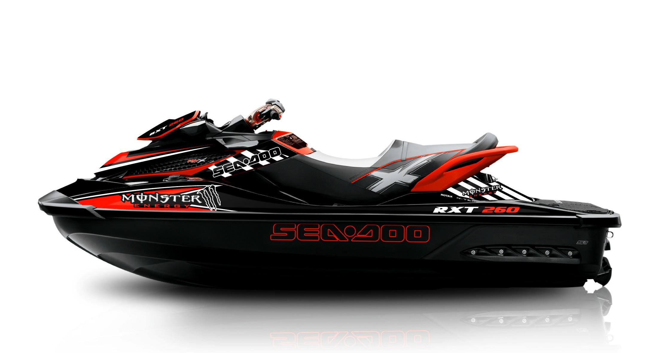 SEA-DOO SPARK TRIXX Jetski Full Graphics kits With Riders ID Jet ski watercraft