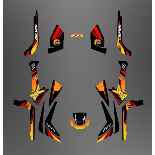 Kit décoration Forum Can Am Series Jaune Medium - IDgrafix - Can Am Outlander (G2)