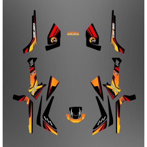 Kit de decoración Foro de la Serie Am Amarillo Medio IDgrafix - Can Am Outlander (G2) -idgrafix