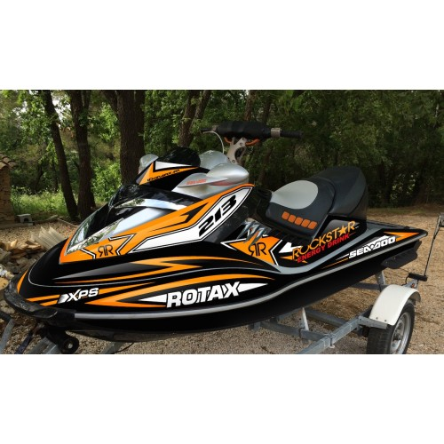 Kit dekor Rockstar Orange für Seadoo RXT 215-255