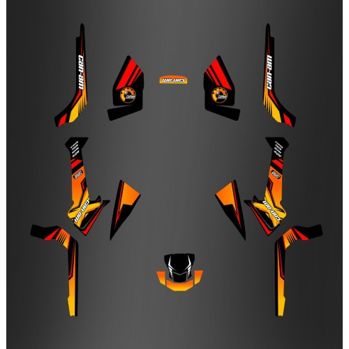 Kit décoration Forum Can Am Series Jaune PERSO - IDgrafix - Can Am Outlander (G2)