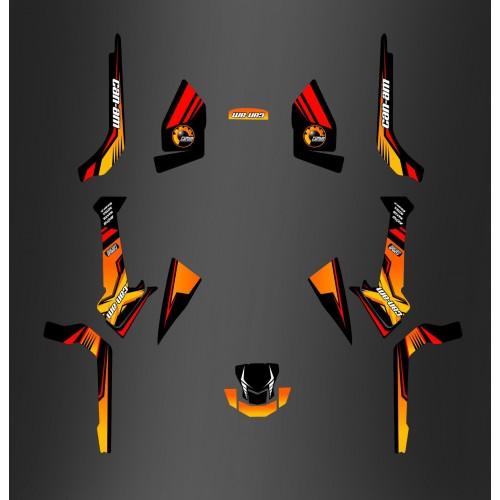 Kit dekor-Forum Can Am Series Gelb PERSO - IDgrafix - Can-Am Outlander G2 - ()