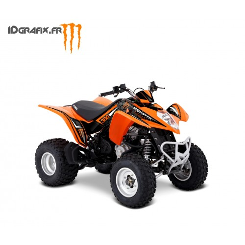 Kit Déco Personnalisé Monster Orange - Kymco 300 Maxxer