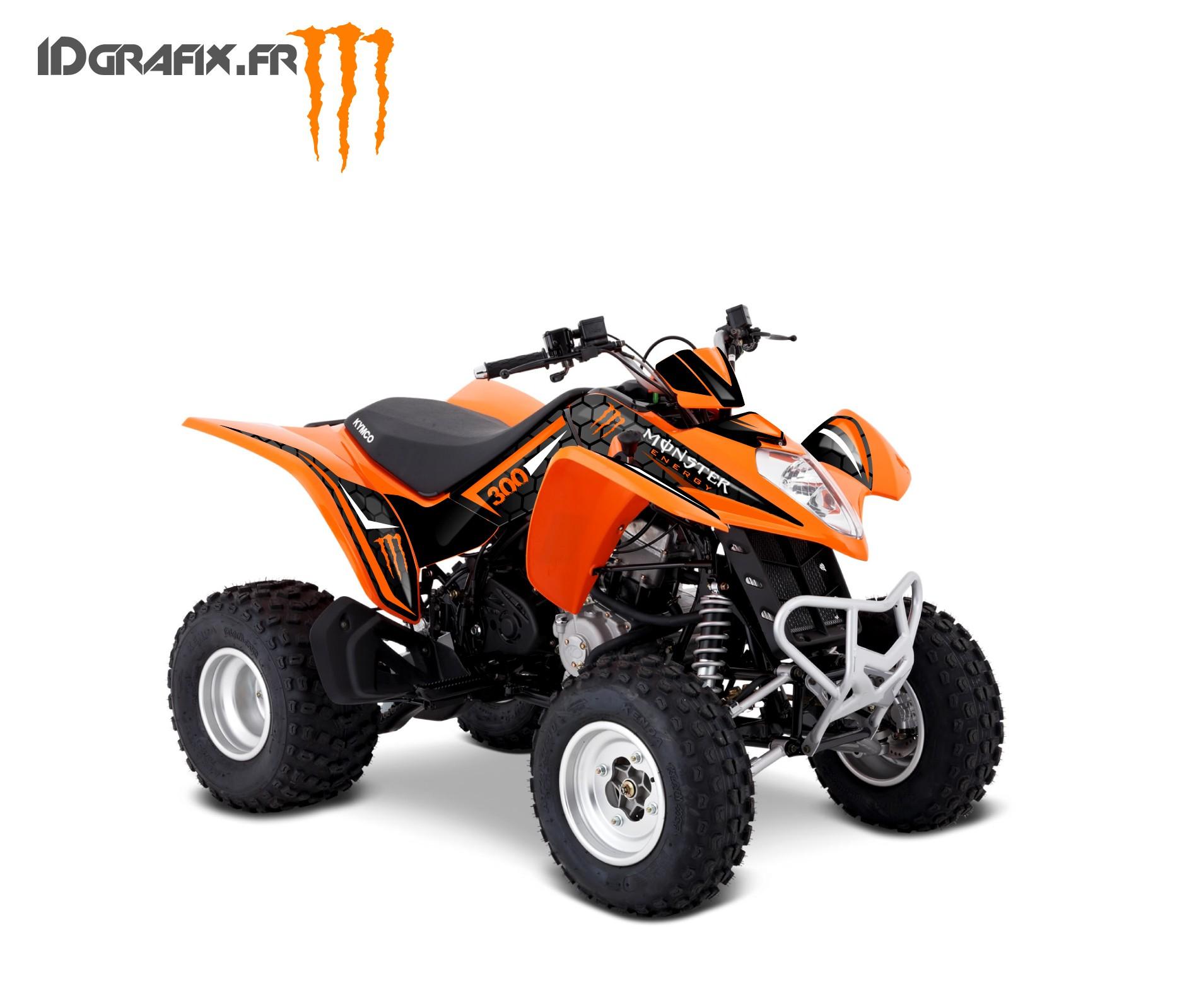 צעיר Kit Deco Custom Monster Orange - Kymco 300 Maxxer PF-49