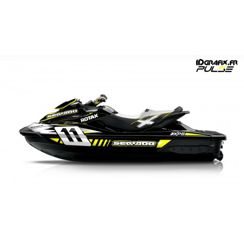 Kit decoration Pulse Yellow for Seadoo RXT 260 / 300 (S3 hull) - IDgrafix