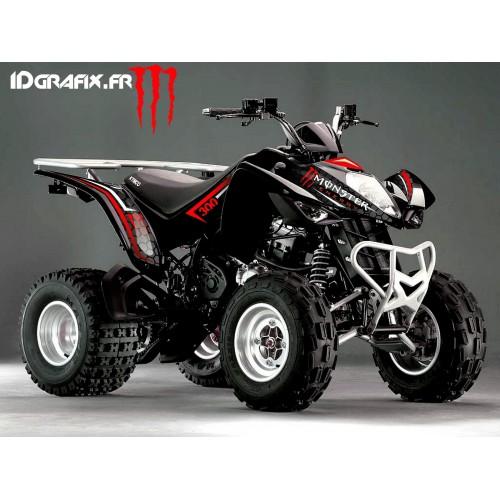 Kit Déco Personnalisé Monster Rouge - Kymco 300 Maxxer-idgrafix