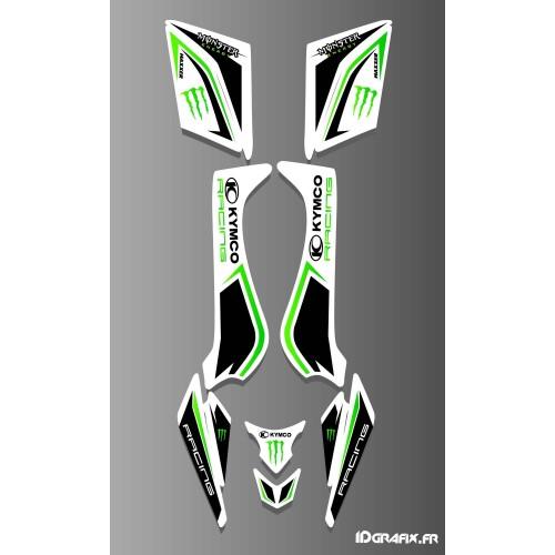 Kit de decoración de Kymco Racing White - IDgrafix - Kymco 50 Y 90 Maxxer (2015-) -idgrafix