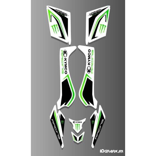 Kit decoration Kymco Racing White - IDgrafix - Kymco 50-90 Maxxer (2015-) - IDgrafix
