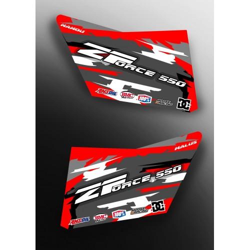 Kit décoration Red Porte CRD - IDgrafix - CF MOTO Zforce 550