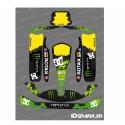 Kit déco 100 % Personnalisé Monster pour Karting Rotax 125