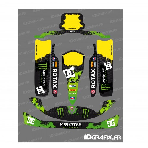 Kit deco 100 % Custom Monster for Karting Rotax 125