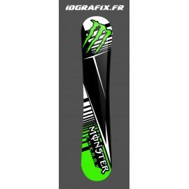 Kit déco 100 % Personnalisé Monster Vert pour SnowBoard