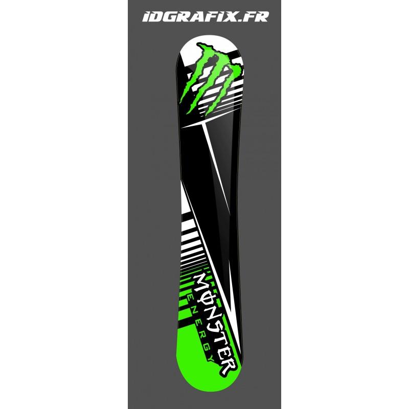 Kit deco 100 % Custom Monster Green SnowBoard - IDgrafix