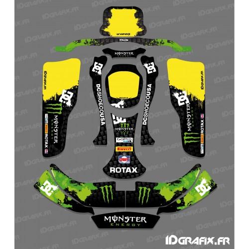 Kit déco 100 % Personnalisé Monster (Vert) pour Karting CRG Rotax 125-idgrafix