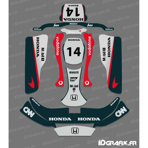 Kit déco F1-series Mac Laren pour Karting CRG Rotax 125-idgrafix