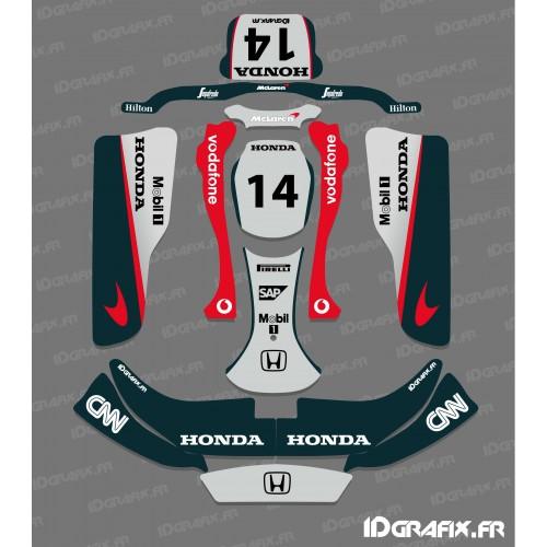 Kit deco F1 de la serie Mac Laren para Karting CRG Rotax 125 -idgrafix