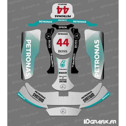 Kit deco F1-series Mercedes for Karting CRG Rotax 125-idgrafix