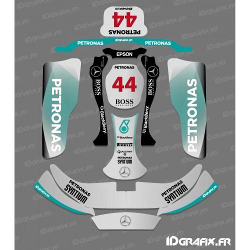 Kit deco F1-series Mercedes for Karting CRG Rotax 125 - IDgrafix