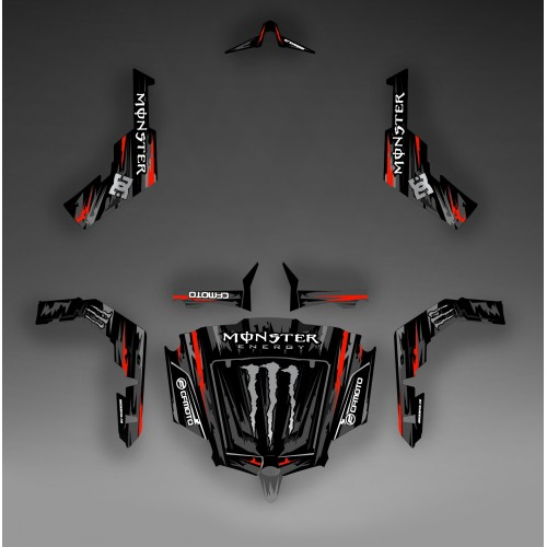 Kit décoration Monster Edition (Noir/Rouge) - Idgrafix - CF Moto ZForce-idgrafix