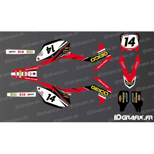 Kit décoration Honda Geico Réplica - Honda CR/CRF 125-250-450-idgrafix