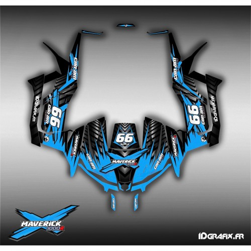 Kit de decoración de Ultimate Azul 2016 - Idgrafix - Can Am 1000 Maverick -idgrafix