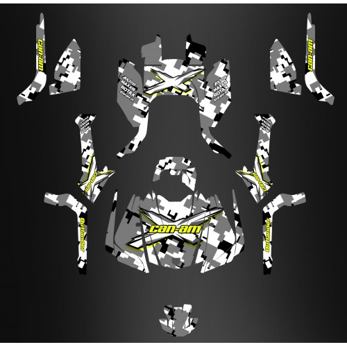 Kit di decorazione Digitale Camo Edizione Completa - IDgrafix - Can Am Outlander G2