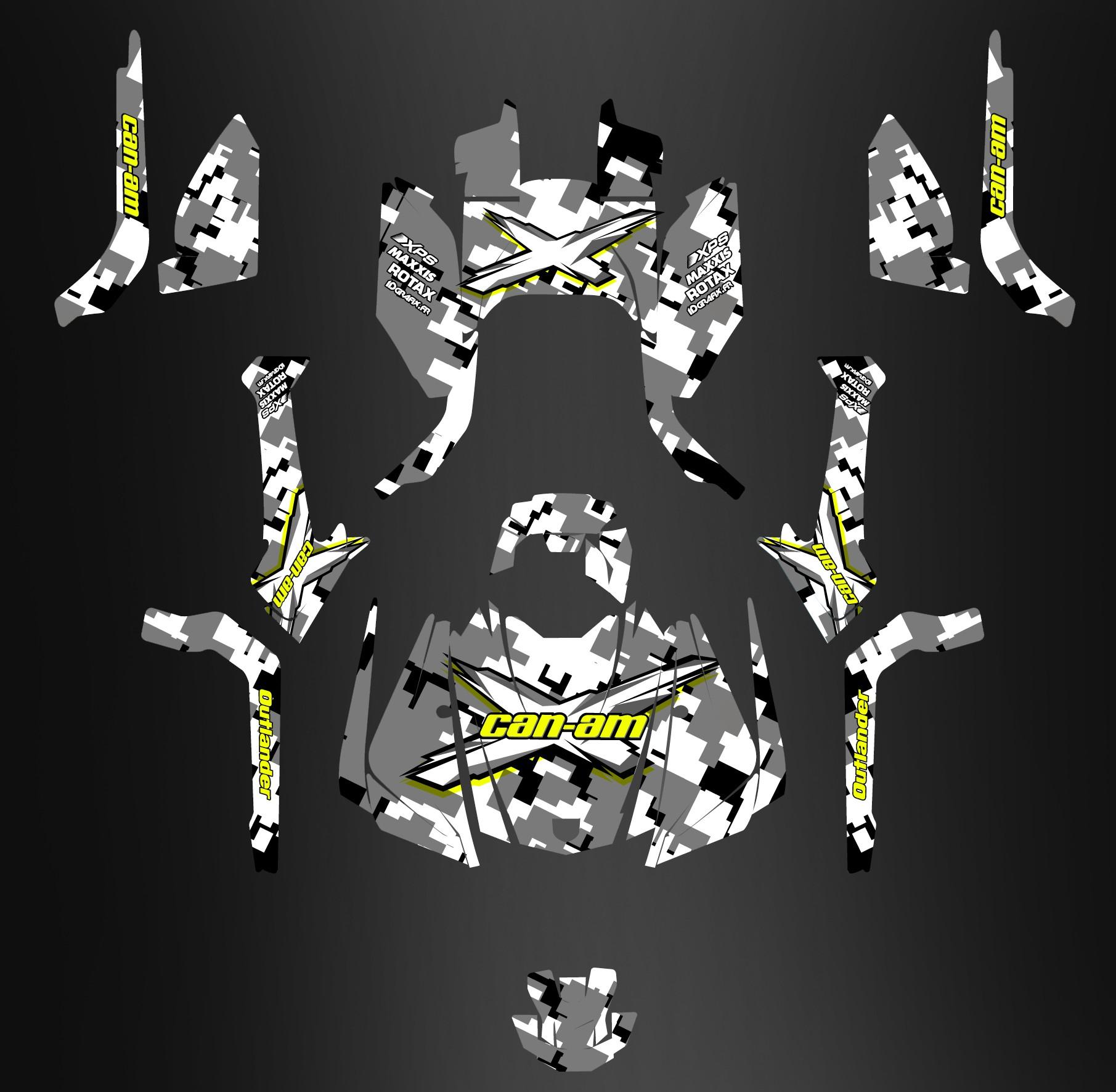 Kit Decoration Digital Camo Full Edition Idgrafix Can Am Outlan
