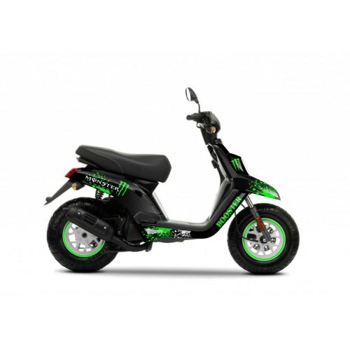 Kit decorazione 100% Personalizzato Mostro Verde - IDgrafix - MBK Booster -idgrafix