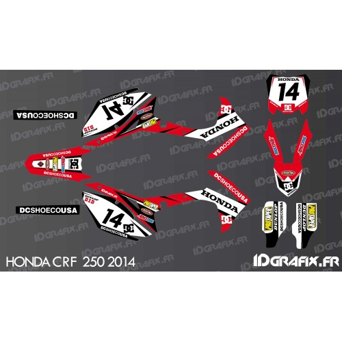 photo du kit décoration - Kit décoration Honda DC Edition - Honda CR/CRF 125-250-450