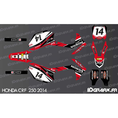 Kit décoration Honda Factory Edition - Honda CR/CRF 125-250-450 -idgrafix
