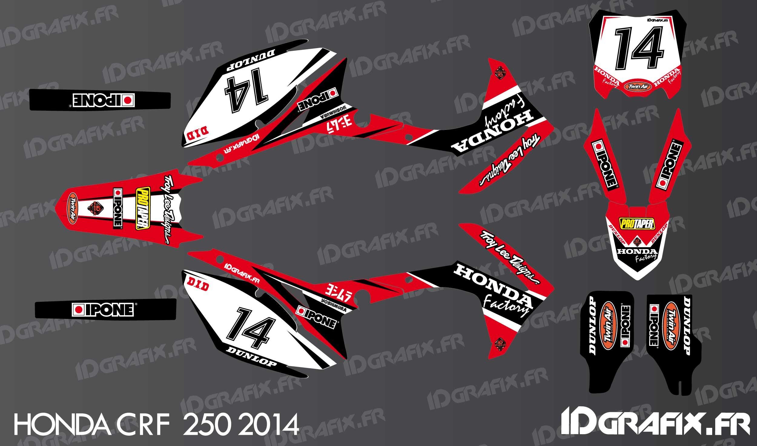 Kit décoration Honda Factory Edition - Honda CR/CRF 125 ...
