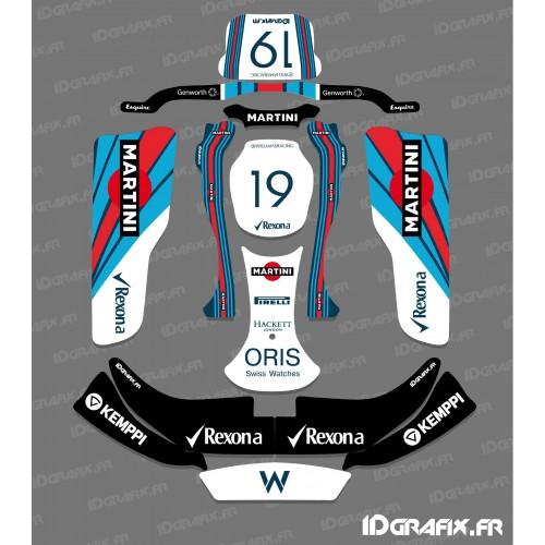 Kit deco F1 de la serie de Williams para el go-Karting CRG Rotax 125 -idgrafix