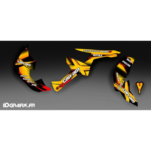 Kit de decoración de X Serie Amarilla Completo IDgrafix - Can Am Renegade 800 -idgrafix