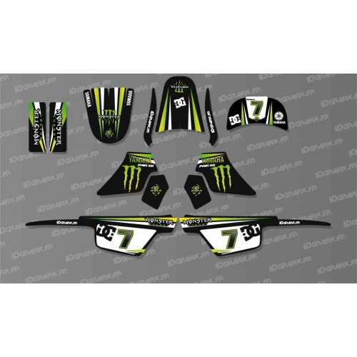 Kit décoration Monster Green Full - IDgrafix - Yamaha 50 Piwi