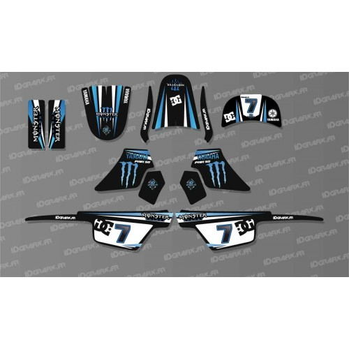 photo du kit décoration - Kit décoration Monster Bleu Full - IDgrafix - Yamaha 50 Piwi