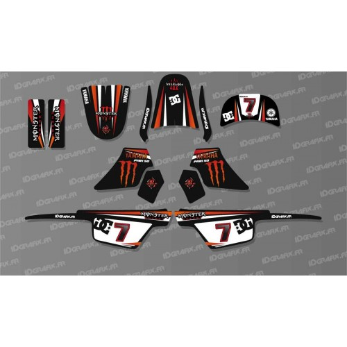 Kit décoration Monster Red Full - IDgrafix - Yamaha 50 Piwi