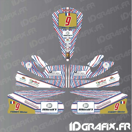Kit deco 100% Custom for Karting Tony Kart M4-idgrafix