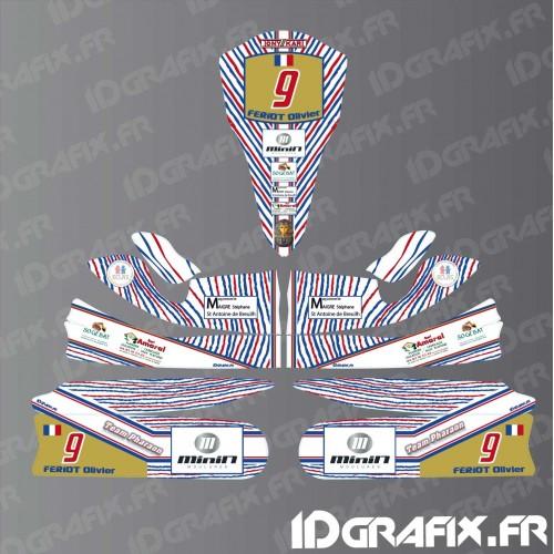 Kit-deco-100% Persönlich für Kartsport Tony-Kart M4 -idgrafix