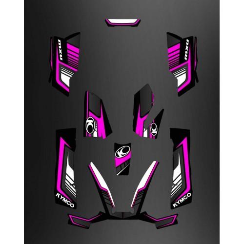 Kit Deco Limitada de color Rosa - Kymco 550 / 700 MXU -idgrafix